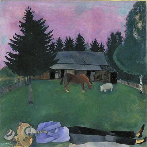 The Poet Reclining, 1915. Oil on board