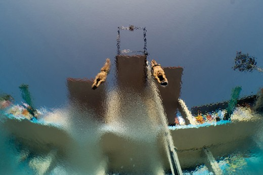 Mexico's Garcia and Sanchez in the men's 10m synchro platform in Barcelona