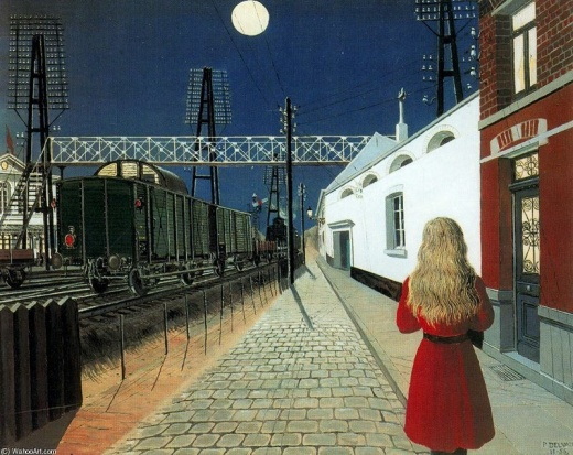 Paul Delvaux Solitude