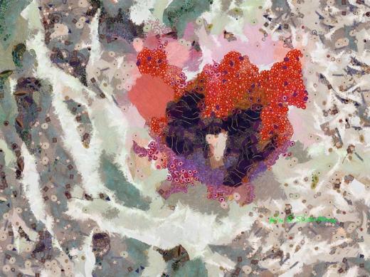 Solo Tulip In Klimt by Kim Ezra Shienbaum
